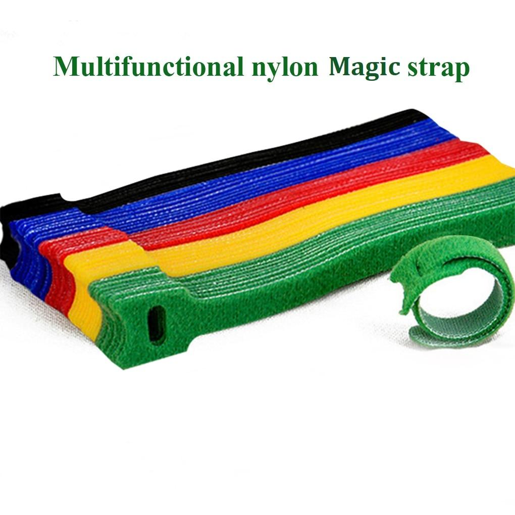 50 шт., искусственные бриллианты, Т-образный кабельные стяжки провода многоразовые шнур Организатор провода 15*1,2 см Красочный кабель передач...