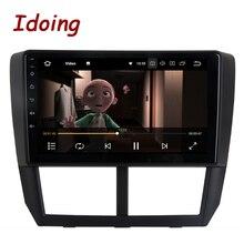 """Idoing 1Din 9 """"araba radyo GPS multimedya oynatıcı Android Subaru Forester 2008 2012 için 4G + 64G Octa çekirdek navigasyon hızlı önyükleme"""