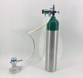 demand valve with 2-checking CGA870 regulator for oxygen cylinder tank medical Emergency
