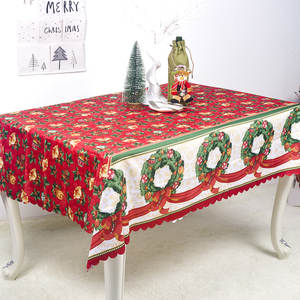 Christmas Decoration Home Kitchen Tablecloth High Quality Polyester Rectangle Table Covers Kitchen Waterproof Tablecloth Covers