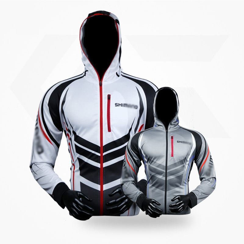 Sport Men Fishing Hooded Clothing Fishing Suit Summer Sun Protection Quick Dry Fishing Hoodie Breathable Anti-uv Fishing Jackets