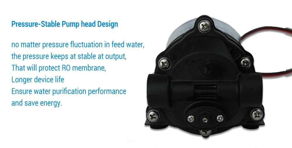 Coronwater RO 24 В 50gpd водяной насос 2500NH Увеличение обратного осмоса воды системы давление