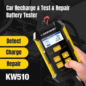 Image 2 - KONNWEI KW510 Volle Auto Batterie Tester 12V 5A Puls Reparatur Auto Ladegeräte Nass Trocken Blei Säure netzteil Auto batterie Reparatur Werkzeug