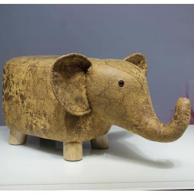 H1 Creative Fashion Calf Stool Elephant Hippo Bench Shoes Bench Stool Children Cartoon Stool Solid Wood Animal Stool Cheap