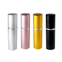 Refillable Perfume&Fine Mist Atomizers with Metallic Exterior&Glass Interior-Portable Travel Size-4 Pc Pack Of 5Ml