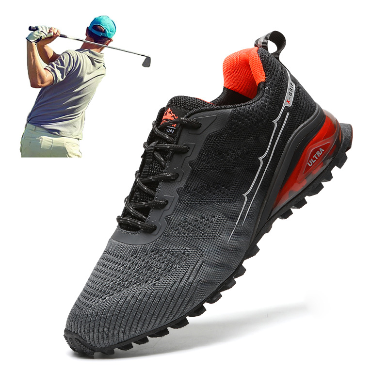 Outdoor Mens Golf Shoes Breathable Light Golf Sneakers Training Walking Golfer Footwears Anti Slip Casual Athletic Golfing Shoes
