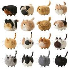 つつい jiwuo おもちゃ人形ウールフェルトフェルトクラフト diy 非完成つついセット動物犬猫手芸キット用フェルト素材バッグ