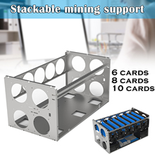 Stackable Open Mining Rig Frame Mining ETH/ETC/ZEC Ether Accessories Toolsfor 6/8/10/12 GPU Crypto Coin Bitcoin Rack Only New