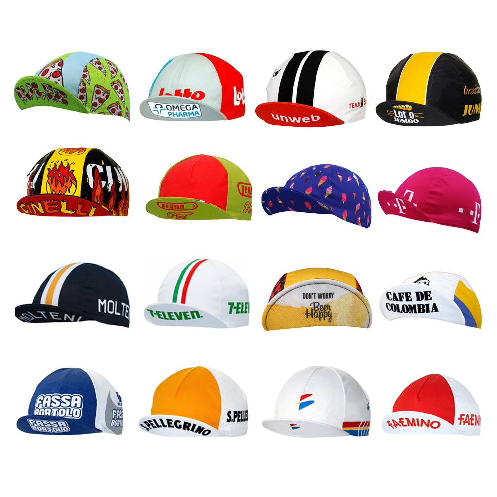 Multi Types Breathable Cycling Caps Bike Wear Hat Pro Team Bicycle Caps Men And Women Jersey Set Matching MOUNTAIN ROAD Headwear