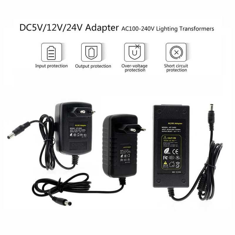 Sterownik LED 100 V-240 V do DC5V 12V 24V 5A 6A 8A transformatory zasilanie adapter konwerter ładowarka do taśmy LED światła