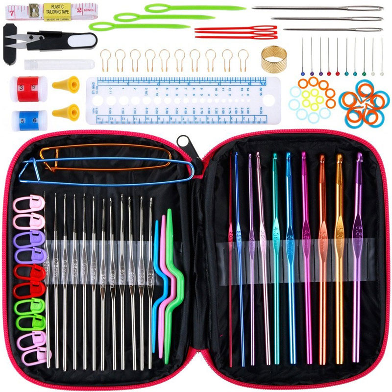 Multi Function Crochet Hooks Set Knitting Needles Case Weave Sewing Craft Tool