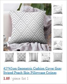 Розовое золото квадратная подушка крышка с геометрическим рисунком сказочной подушка чехол полиэстер декоративная наволочка для подушки для домашнего декора размером 45*45 см