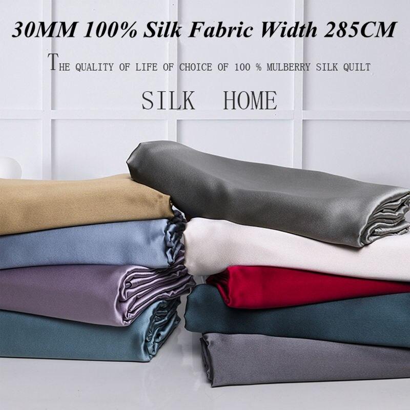 Tissu en soie 30mm largeur 285cm 100% mûrier tissu en soie poids lourd teint en soie bricolage robe tissu soie literie écharpe