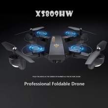 VISUO RC Dron XS809W XS809HW Mini Foldable Selfie Drone with Wifi FPV 0.3MP or 2MP Camera Altitude Hold Quadcopter Vs JJRC H37 visuo xs809hw xs809w foldable drone with camera hd 2mp wide angle wifi fpv altitude hold rc quadcopter helicopter vs h47 dron