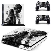 """האחרון של ארה""""ב PS4 מדבקת עור מלא לוחות קדמיים Dualshock פלייסטיישן 4 קונסולת ובקרים PS4 עור מדבקת מדבקות ויניל"""
