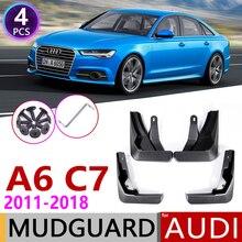 Брызговик для Audi A6 Sedan Saloon Avant C7 2011 ~ 2018, брызговик от грязи, брызговики аксессуары для брызговиков 2007 2008 2009 4th 4 Gen