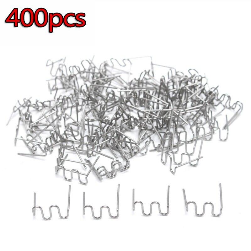 400 Pc Standard Pre Cut 0.8mm Wave Hot Staples Fit PLASTIC STAPLER REPAIR Welder