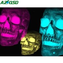 AZQSD 3pcs Halloween Diamond Painting Skull Embroidery Scenery Handmade Home Decoration Gift Picture Of Rhinestones