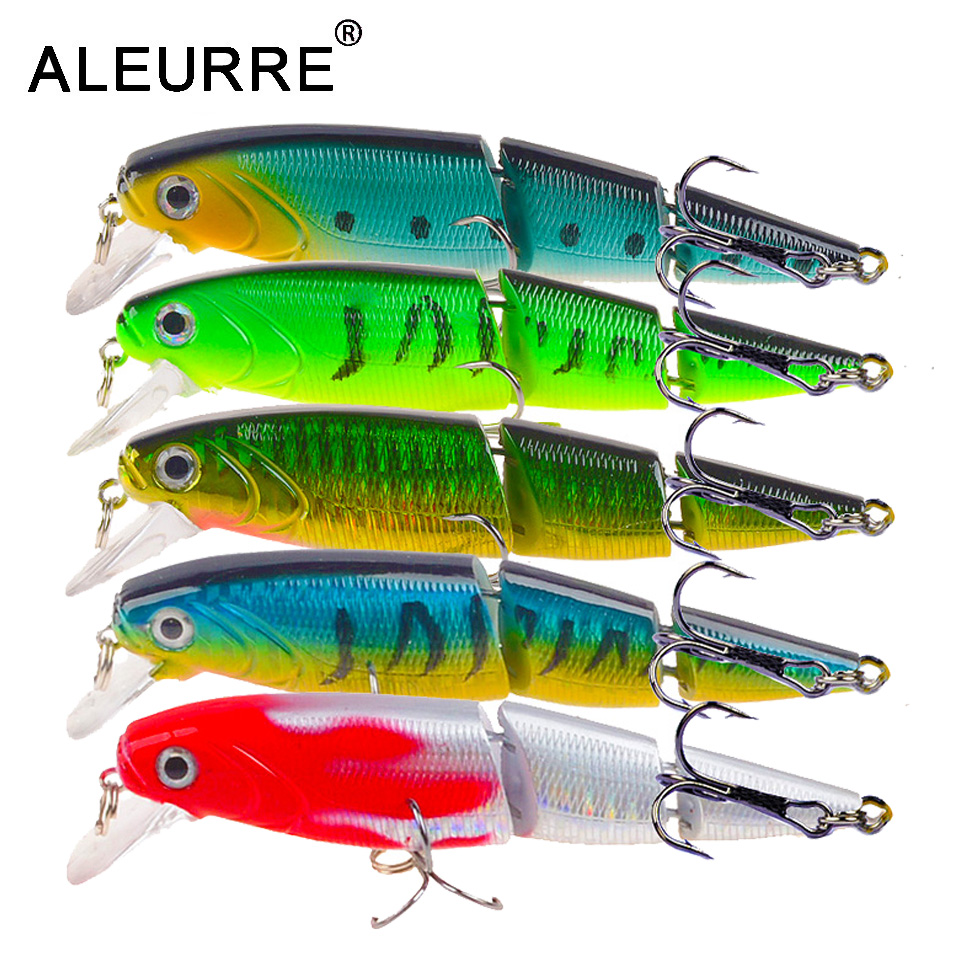 1PCS Jointed Fishing Lure 10.5CM 15G Floating Minnow Plastic Artificial Fishing Wobblers Tools 3 Sections Lure