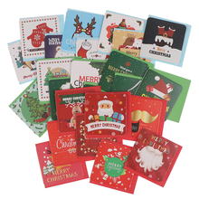 24pcs/lot Merry Christmas Greeting Cards Party Invitations New Year Greeting Card Xmas Postcard Gift for Party Suppilies