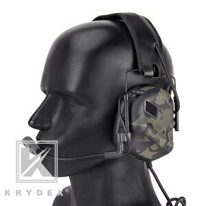 Image 4 - Casque tactique KRYDEX avec Micphone Peltor réduction du bruit détachable prise de son Communication casque électronique MCBK