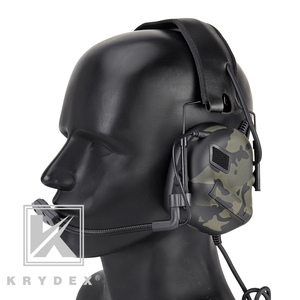 Image 4 - KRYDEX Tactical Headset With Micphone Peltor Detachable Noise Reduction Sound Pick Up Communication Electronic Headphone MCBK