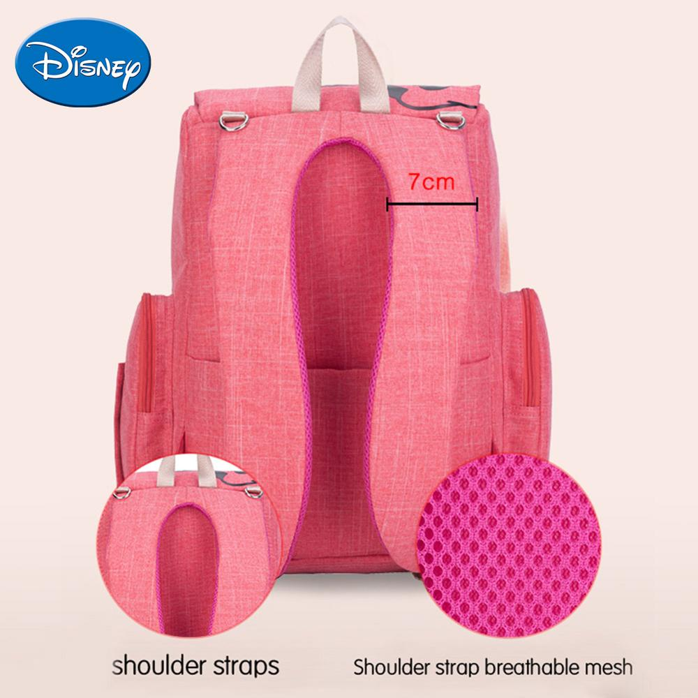 Image 5 - Disney Maternity Diaper Bag Cute Minnie Mickey Printed Mommy Backpacks Large Capacity Baby Stroller Nursing Nappy Storage Bag-in Diaper Bags from Mother & Kids