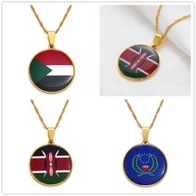 Custom Flag Necklaces Personalized Jewelry Customize Africa Arab Middle East Europe Asia & any Country Flags #137121