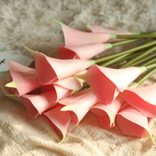 5 Pcs Calla Lily Artificial Flowers Bouquet PU Real Touch Wedding Home Table Decoration Fake Flower Party Decoration Accessories pu real touch artificial calla flower bonsai