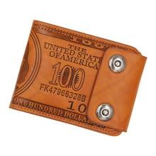 Purse Wallet Card-Holder Money-Bag Credit Designer Men for Male Dollar-Pattern Casual