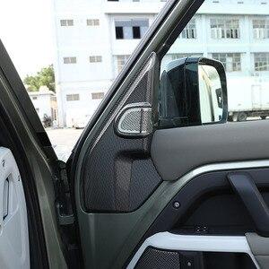 Image 3 - لاند روفر المدافع 110 2020 2021 ABS ألياف الكربون باب السيارة بوق عمود الديكور ملصقات غطاء اكسسوارات السيارات