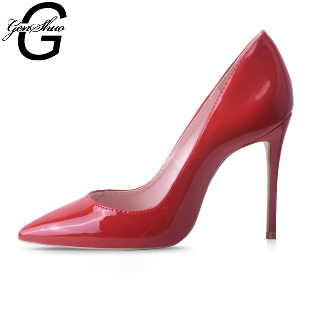 Thin Heel Women's Red Pointed Toe Shoes
