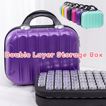 AZQSD 132 Bottles Diamond Painting Tools Container Storage Bag Carry Case Daimond Painting Bag Zipper Accessories Double Layer