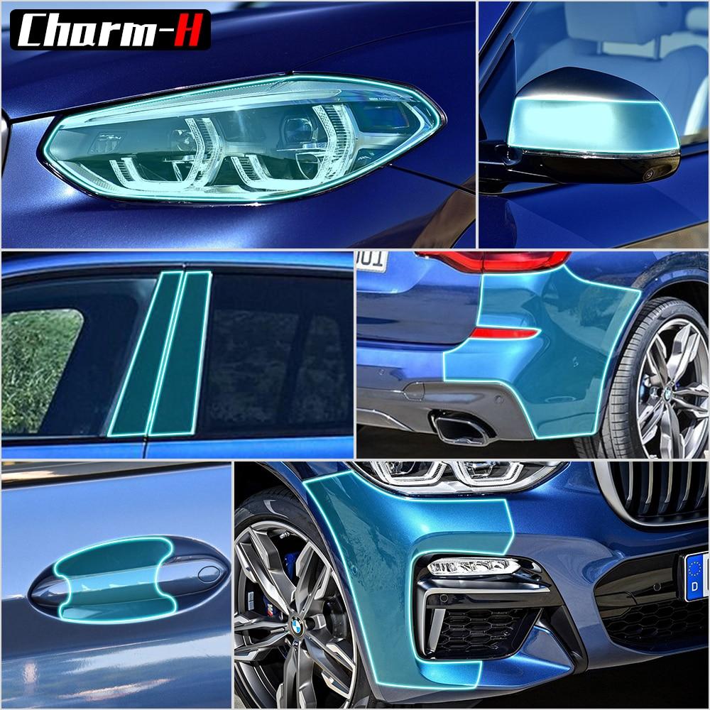 Защитная пленка виниловая оберточная для кузова автомобиля, прозрачные наклейки для BMW X3 g01 2018, аксессуары, защита от царапин