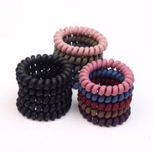 5Pcs High Elastic Hair Rubber Bands For Women Telephone Line Popular Hairbands Girls Accessories Children Headwear