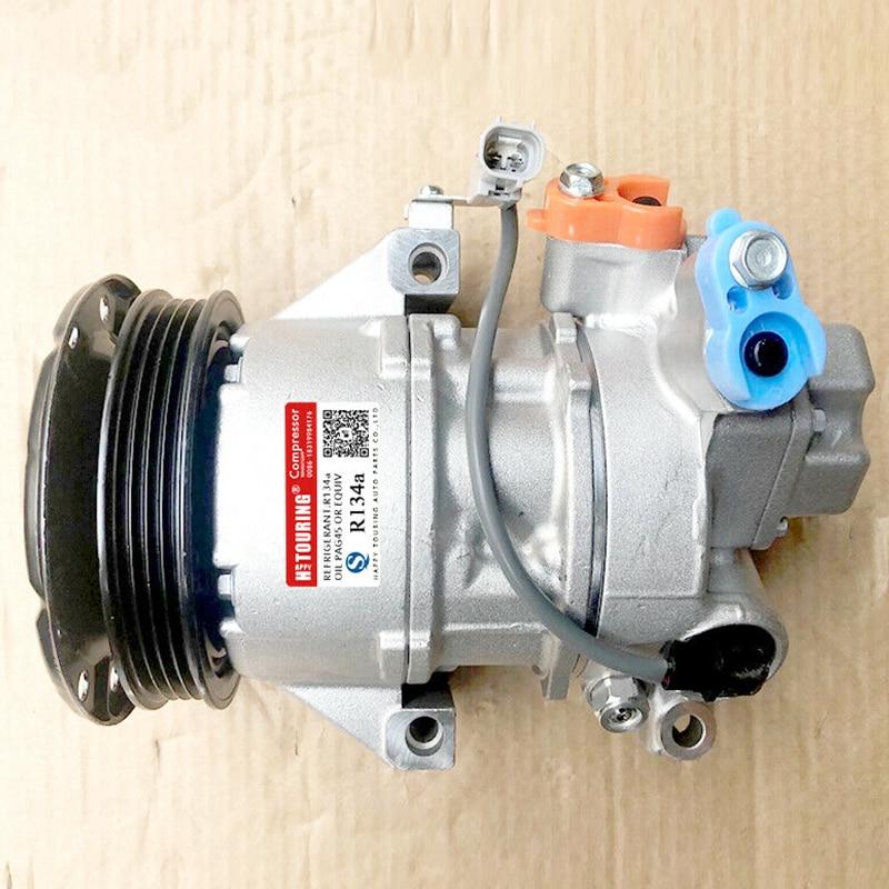 Compresseur de climatisation, accessoire de rechange, pour voiture, Toyota Yaris 2005-2011 Vitz Sienta 2003- Scion X 88310 52492 88310-52551 8831052492 8831052491, 4pk, 5SER09C
