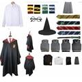 Костюм для косплея Поттера, одежда, волшебный халат, палочка, аксессуары, Гермиона, одежда для косплея, Прямая поставка, подарки на Хэллоуин ...