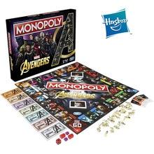 Hasbro Monopoly Marvel Avengers Ironman Thanos Black Widow Hulk Thor Nebula Rocket Racoon Real Deal Card Trading Games Kids Toys