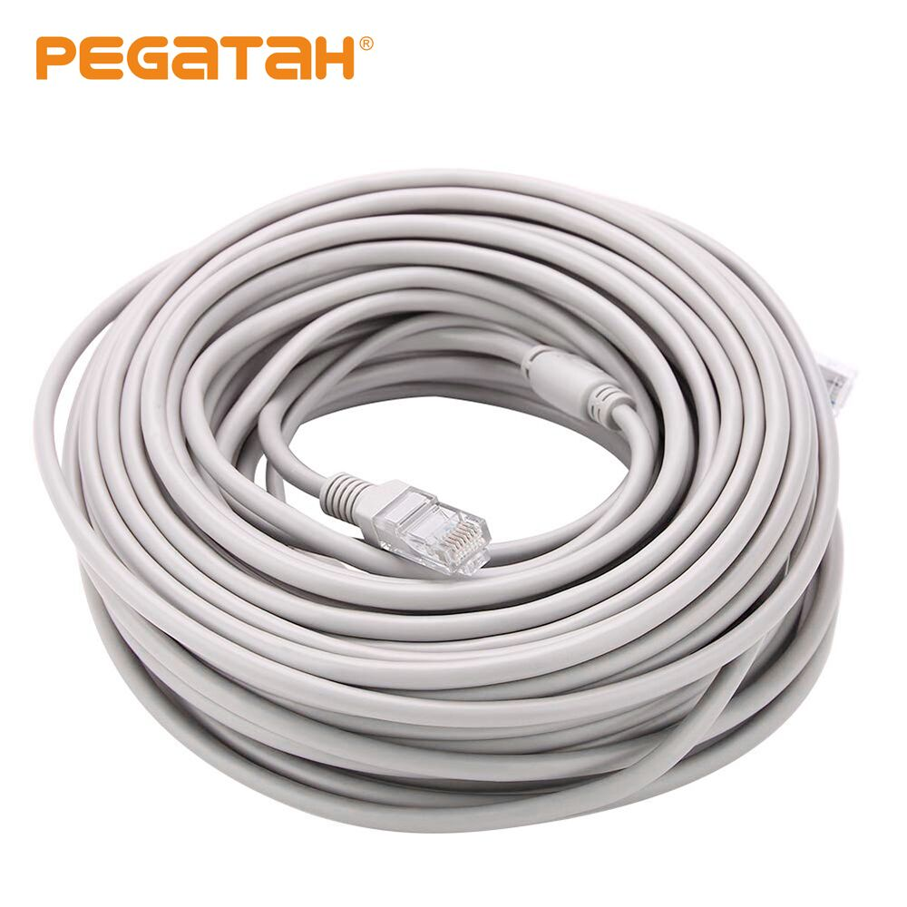 Ip Camera Cable CCTV 30M Optional Gray CAT5/CAT-5e Ethernet Cable RJ45 And DC Power CCTV Network Lan Cable For System IP Cameras
