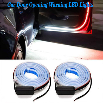 120cm Car Door Opening Welcome Run Warning LED Lights For Audi A3 A4 B8 A6 Q5 C7 B5 Mercedes Benz W203 W204 W205 W124 W212 AMG image