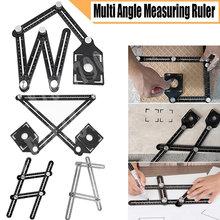 1 pçs localizador régua modelo de metal transferidor templat angular ângulo de medição régua buraco perfurador acessórios telha buraco localizador