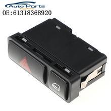 Interruptor de luz de emergência, botão de apertar, interruptor de luz de aviso de perigo, interruptor ligar/desligar para bmw 3 series e46 venda quente 61318368920, venda quente