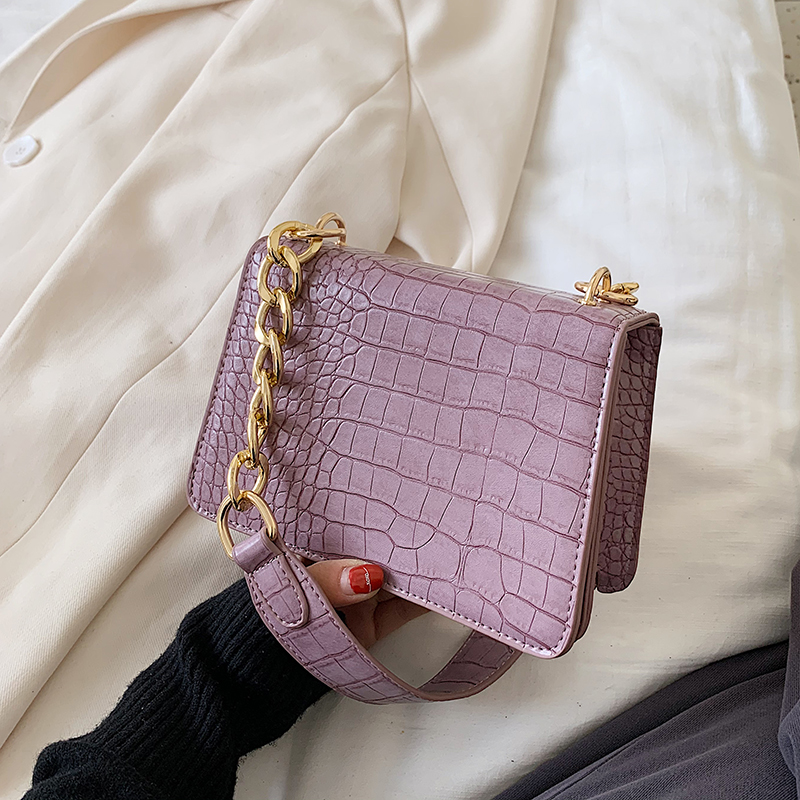 Crocodile Pattern PU Leather Crossbody Bags For Women 2020 Chain  Female Shoulder Handbags Mini  Purses Travel Cross Body Bag