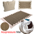 Yoga Mat Acupressure Mat Acupressure Massager and Pillow Set Relaxation Relieve Stress Body Lotus Stress Pain Cushion Mat