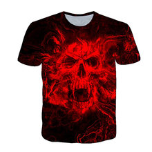Boy 3D T-Shirt Anime Clothing Skull T-shirt Summer Short Sleeve Round Neck 4-14T Children/Adolescent/Girl Street Clothes Shirt