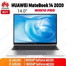 Original huawei matebook 14 2020 portátil 14 polegada intel core i5 10210U/i7 10510U 8gb/16gb lpddr3 512gb ssd windows 10 pro inglês