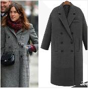 Autumn Winter Coat Women 2019 Fashion Vintage Slim Double Breasted Jackets Female Elegant Long Warm White Coat casaco feminino 31