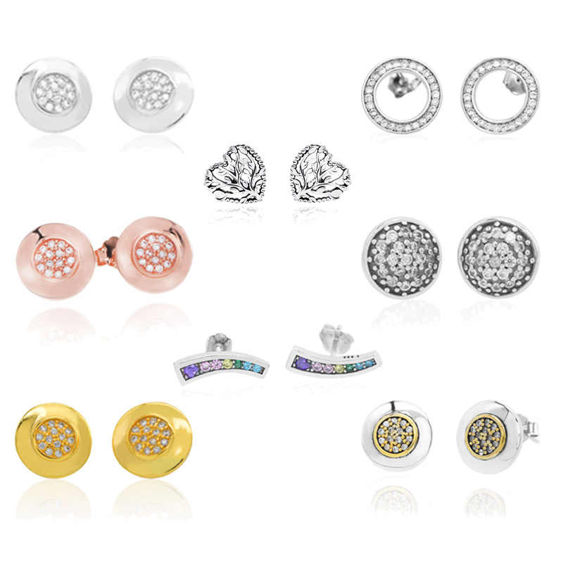 Trendy Dazzling Droplets Stud Earrings for Women Unique Design Forever Stud Earrings Sterling Silver 925 Jewelry