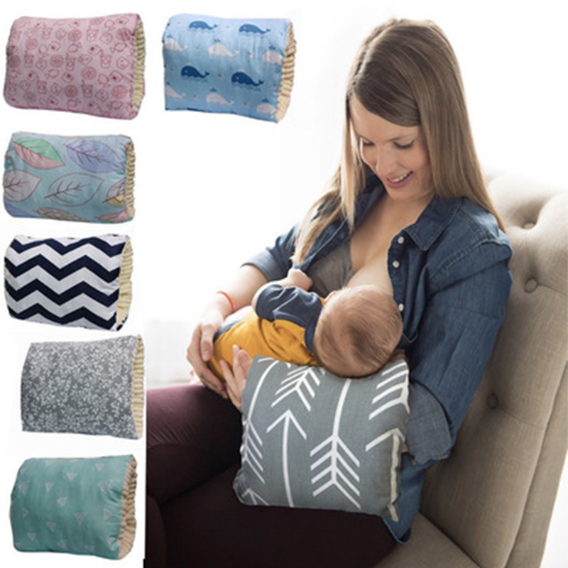 Newborn Adjustable Nursing Pillows Baby Washable Breastfeeding Arm Pillow Kids Soft Cotton Thicken On Arm Cushion For Breastfeed