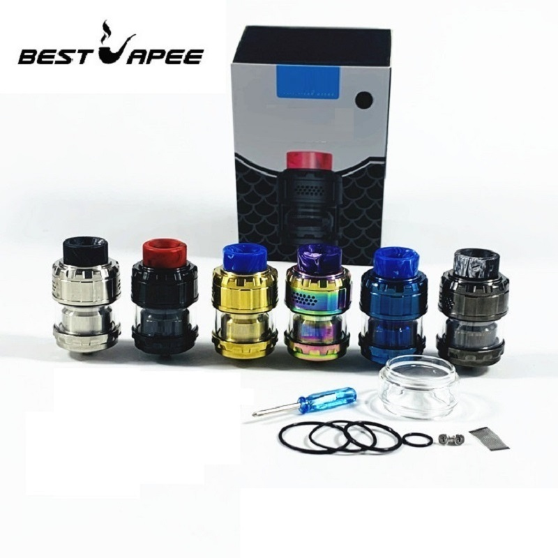 RTA 3ml 5ml Tank Atomizer With Airflow Intake Dual Coil Upgraded For E Cigarette Box Mod Vape Colors Newest Kylin M Rta Atomizer